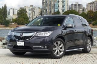 Used 2016 Acura MDX Elite Fully Loaded! Navigation, rear DVD! for sale in Vancouver, BC