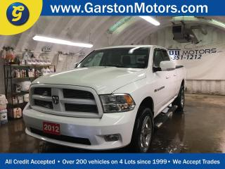 Used 2012 Dodge Ram 1500 SPORT*QUAD CAB*LEATHER*CHROME RIMS*SIDE STEPS*POWER HEATED/COOLED SEATS*HEATED STEERING WHEEL*U CONNECT PHONE*TONNEAU COVER*BOX LINER* for sale in Cambridge, ON