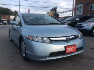 Used 2007 Honda Civic HYBRID w Navigation Bluetooth Alloys EXTRA CLEAN for sale in Scarborough, ON