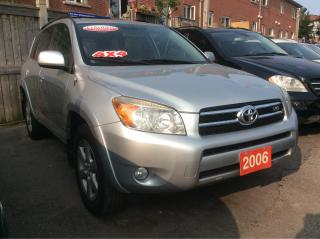 Used 2006 Toyota RAV4 Limited 4WD Leather Sunroof Alloys EXTRA CLEAN for sale in Scarborough, ON