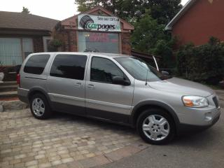 Used 2007 Pontiac Montana Extended Van, Cold A/C with Fan in the back 7 Seat for sale in Bradford, ON