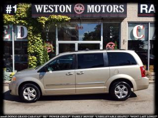 Used 2008 Dodge Grand Caravan SE*FAMILY MOVER*UNBELIEVABLE SHAPE* for sale in York, ON
