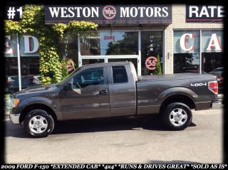 Used 2009 Ford F-150 *EXT CAB *4X4 *RUNS & DRIVES GREAT *SOLD AS IS!!! for sale in York, ON