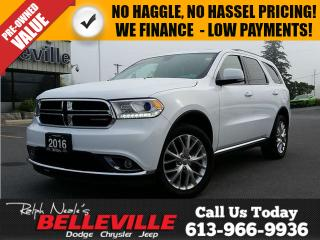 Used 2016 Dodge Durango Limited-DVD-Sunroof for sale in Belleville, ON