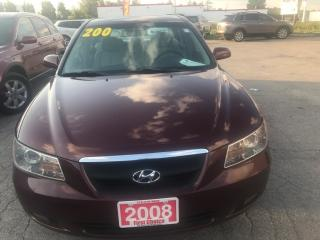 Used 2008 Hyundai Sonata GL for sale in Kitchener, ON