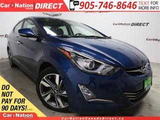 Used 2016 Hyundai Elantra Limited  NAVI  LEATHER  SUNROOF  BACK UP CAM  for sale in Burlington, ON