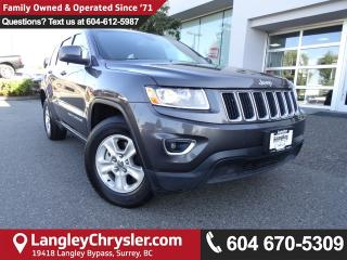 Used 2016 Jeep Grand Cherokee Laredo *ACCIDENT FREE*ONE OWNER*LOCAL BC CAR* for sale in Surrey, BC