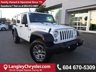 Used 2017 Jeep Wrangler Unlimited Rubicon *ACCIDENT FREE * DEALER INSPECTED * CERTIFIED * for sale in Surrey, BC