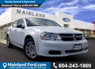 Used 2013 Dodge Avenger Base NO ACCIDENTS, LOCAL, LOW KMS for sale in Surrey, BC