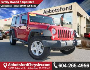 Used 2014 Jeep Wrangler Unlimited Sport #1 VALUE RANK IN BC for sale in Abbotsford, BC