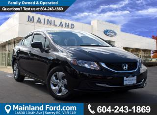 Used 2015 Honda Civic LX LOCAL, NO ACCIDENTS, LOW KMS for sale in Surrey, BC