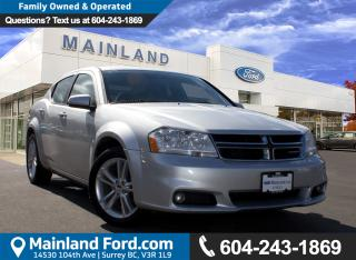 Used 2011 Dodge Avenger SXT LOW KMS,  LOCAL for sale in Surrey, BC