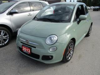 Used 2013 Fiat 500 'GREAT VALUE' 5-SPEED MANUAL 'SPORT - EDITION' 4 PASSENGER 1.4L.. LEATHER.. NAVIGATION.. BLUETOOTH.. 'SPORT-MODE'.. for sale in Bradford, ON