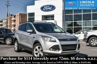 Used 2014 Ford Escape SE 4WD - BLUETOOTH - REAR PARKING SENSORS - PWR ROOF - CLASS II TRAILER TOW for sale in Ottawa, ON