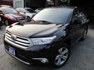 Used 2013 Toyota Highlander CAMERA-V6-PRM-PKG-LAETHER-SUNROOF-ONE-OWNER for sale in Scarborough, ON