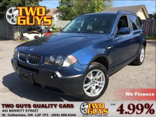 Used 2005 BMW X3 2.5i AWD NICE LOCAL TRADE IN!! for sale in St Catharines, ON