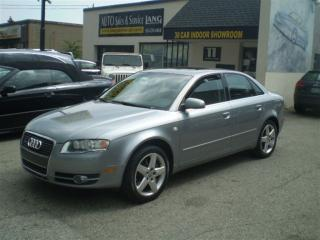 Used 2006 Audi A4 2.0T (A6) QUATTRO  SOLD SOLD for sale in Etobicoke, ON