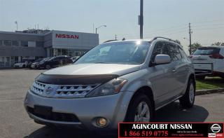 Used 2006 Nissan Murano SL |AS-IS SUPER SAVER| for sale in Scarborough, ON