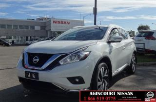Used 2017 Nissan Murano Platinum |Non Rental|Fully Loaded| for sale in Scarborough, ON