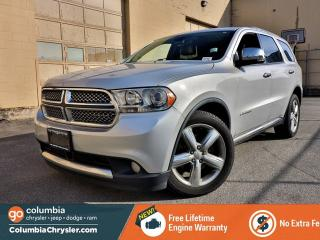 Used 2011 Dodge Durango CITADEL, GREAT CONDITION, TOUCH SCREEN, BACKUP CA,ERA, FREE LIFETIME ENGINE WARRANTY! for sale in Richmond, BC