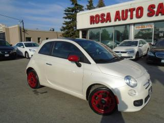 Used 2012 Fiat 500 Sport 4 NEW TIRES  LOW KM SUNROOF LEATHER HEATED S for sale in Oakville, ON