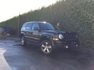 Used 2016 Jeep Patriot HIGH ALTITUDE + LEATHER HEATED FT SEATS + SUNROOF + ALLOYS + NO EXTRA DEALER FEES for sale in Surrey, BC
