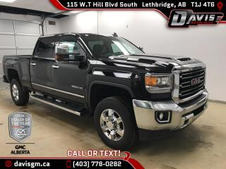 New 2018 GMC Sierra 3500 HD SLT-DURAMAX DIESEL, Heated/Cooled Leather, Android/Apple Carplay for sale in Lethbridge, AB