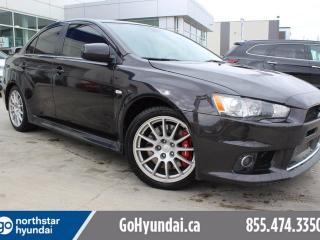 Used 2014 Mitsubishi Lancer Evolution MR Sunroof 291HP awd for sale in Edmonton, AB
