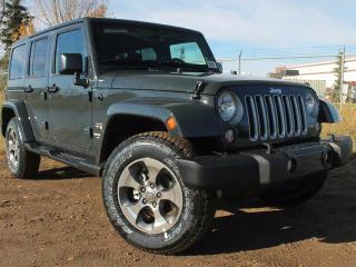 Used 2017 Jeep Wrangler Unlimited Sahara 4x4 / GPS Navigation / Heated Front Seats for sale in Edmonton, AB
