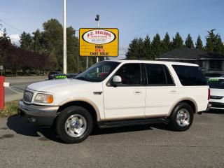 Used 1999 Ford Expedition Eddie Bauer, Bluetooth, Leather, Sunroof, 3rd Row! for sale in Surrey, BC