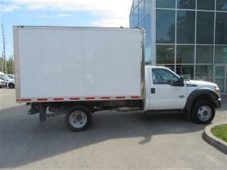 Used 2015 Ford F-550 4x4 diesel Cab & chassis with 12 ft aluimum box for sale in Richmond Hill, ON