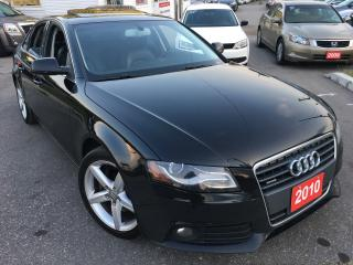 Used 2010 Audi 2.0T QUATTRO 2.0T PREMIUM/5SPD/AWD/LEATHER/SUNROOF/ALLOYS/ for sale in Scarborough, ON
