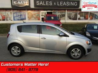 Used 2014 Chevrolet Sonic LT  HEATED SEATS, ALLOYS, BLUETOOTH, REMOTE for sale in St Catharines, ON