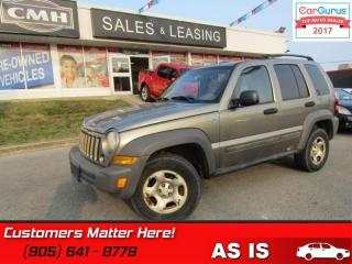 Used 2007 Jeep Liberty Sport  4x4, SPORT, (AS IS - UNCERTIFIED AS TRADED IN) for sale in St Catharines, ON