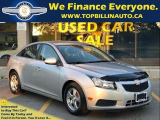 Used 2013 Chevrolet Cruze LT Turbo, BLUETOOTH, USB for sale in Concord, ON