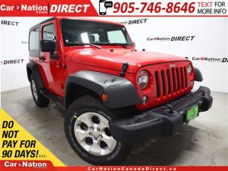 Used 2016 Jeep Wrangler Sport| 4X4| HARD TOP| LOW KM'S| for sale in Burlington, ON