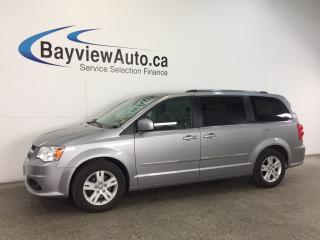 Used 2017 Dodge Grand Caravan CREW- 3.6L! HTD LTHR! REV CAM! UCONNECT! for sale in Belleville, ON
