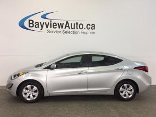 Used 2016 Hyundai Elantra L- 6 SPD! A/C! FULL PWR GROUP! for sale in Belleville, ON