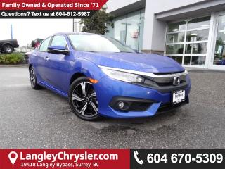 Used 2016 Honda Civic Touring *ACCIDENT FREE*ONE OWNER*LOCAL BC CAR* for sale in Surrey, BC