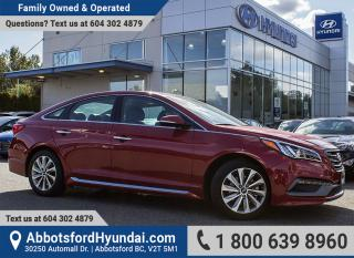 Used 2017 Hyundai Sonata Sport Tech GREAT CONDITION & ACCIDENT FREE for sale in Abbotsford, BC