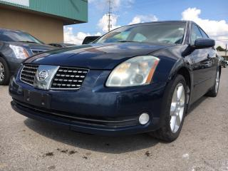 Used 2005 Nissan Maxima SE 3 MONTHS OF SIRIUSXM FREE* for sale in Bolton, ON