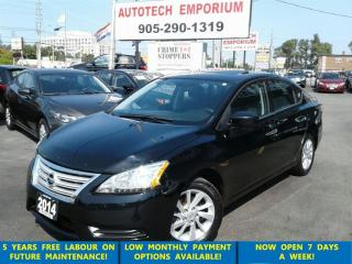 Used 2014 Nissan Sentra SV Navigation/Sunroof/Camera/Alloys/Htd Sts/Btooth for sale in Mississauga, ON