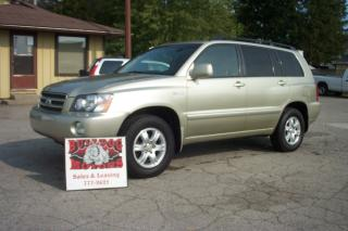 Used 2003 Toyota Highlander LIMITED  for sale in Glencoe, ON