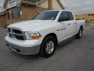 Used 2012 Dodge Ram 1500 SLT 4X4 Quad Cab 5.7L HEMI Certified 245Km for sale in Etobicoke, ON