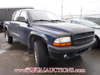 Used 2003 Dodge DAKOTA  QUAD CAB 4WD for sale in Calgary, AB