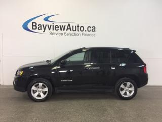 Used 2016 Jeep Compass HIGH ALTITUDE- 4x4! SUNROOF! HTD LTHR! CRUISE! for sale in Belleville, ON