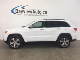 Used 2016 Jeep Grand Cherokee LTD- 4x4! REM STRT! ROOF! HTD LTHR! NAV! REV CAM! for sale in Belleville, ON