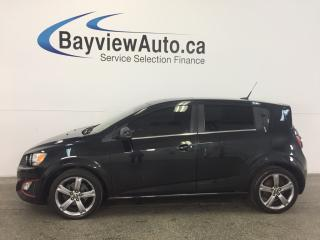 Used 2014 Chevrolet Sonic RS- 6 SPEED! TURBO! TINT! ROOF! HTD LTHR! CRUISE! for sale in Belleville, ON