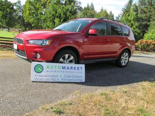 Used 2012 Mitsubishi Outlander 4WD, Leath, roof, Warr for sale in Surrey, BC