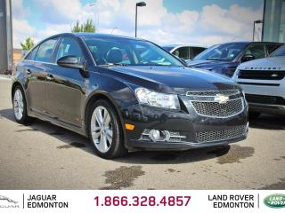 Used 2012 Chevrolet Cruze LTZ Turbo - Local One Owner Trade In | No Accidents | Leather Interior | Heated Seats | Factory Remote Starter | Power Sunroof | Pioneer Audio | Push Button Start | 18 Inch Wheels | Climate Control with AC | Parking Sensors | Low KMs | Bluetooth for sale in Edmonton, AB